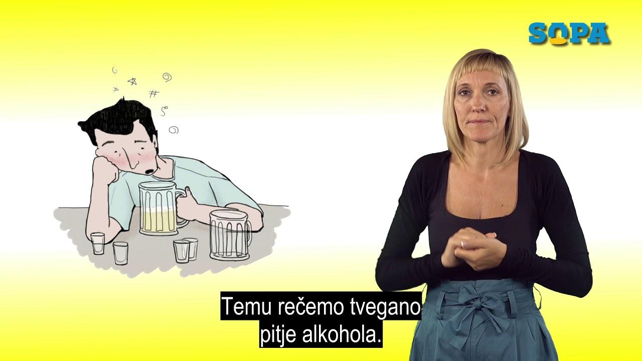 Brošura projekta SOPA: Težave, ki jih povzroča alkohol